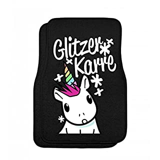 Shirtee Glitzer Karre O_o - Automatten -onesize-Schwarz