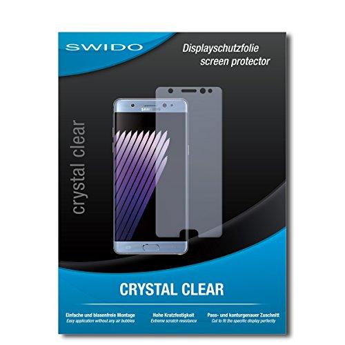 SWIDO Bildschirmschutz für Samsung Galaxy Note 7 [4 Stück] Kristall-Klar, Hoher Härtegrad, Schutz vor Öl, Staub & Kratzer/Schutzfolie, Bildschirmschutzfolie, Panzerglas Folie