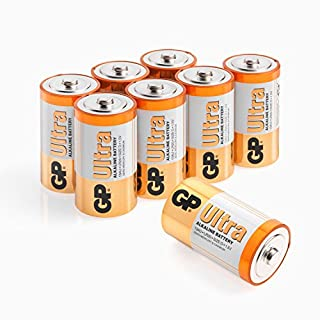 Size D batteries |Pack of 8| GP Batteries |Superb operating time| LR20 | 13A | 1.5V | MN1300
