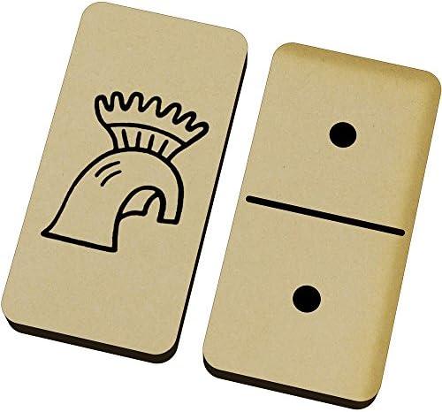 Azeeda 'Casque Boîte Grec' Domino Jeu et Boîte 'Casque (DM00015184) 2fb5ae