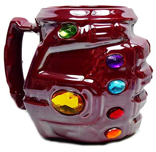 Disney Kaffeetasse Tasse Mug Pott Kaffee Becher Tanos Handschuh Iron Man Marvel