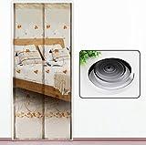 Die besten Homes Vorhänge - LyMei Klett-Magnet-Screen-Tür, Einfache magnetische Verschlüsselung Vorhang Satin Shamen Bewertungen
