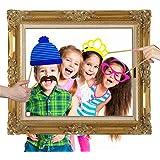 Malayas® 24Pcs Photobooth Cadre Photo Booth Accessoires Photo Booth Props DIY Kits pour Fête/Soirée/Mariage/Fêtes/Anniverdaire/Noël/Famille les Activités Spéciaux