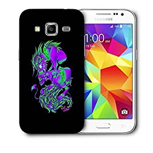 Snoogg Purple Monster Designer Protective Back Case Cover For Samsung Galaxy Core Prime