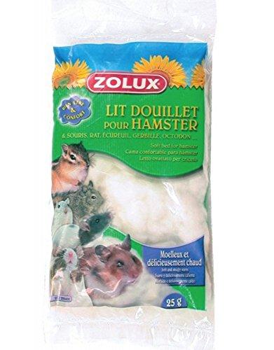 Lit douillet blanc sachet de 25 g pour hamsters, gerbilles, souris, rats, écureuils, octodons.../ZOLUX