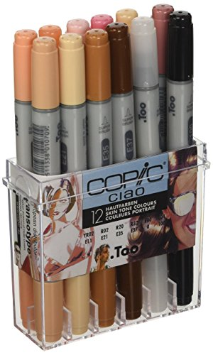 Copic 22075705 Ciao Set da 12, Tonalita Pelle