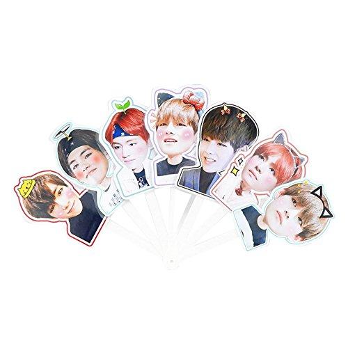 Coaste Antilane BTS Kpop Bangtan Jungen Band Members Fanartikel Handfächer/Hand Fan (Style 05) (5 Min Kostüme)