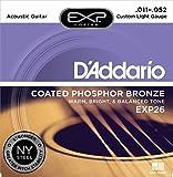 D'Addario EXP26 - Juego de cuerdas para guitarra acústica de fósforo/bronce, 011-052