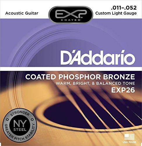 D'Addario EXP26 - Juego de Cuerdas para Guitarra Acústica de Fósforo/Bronce, 011-052, Naranja
