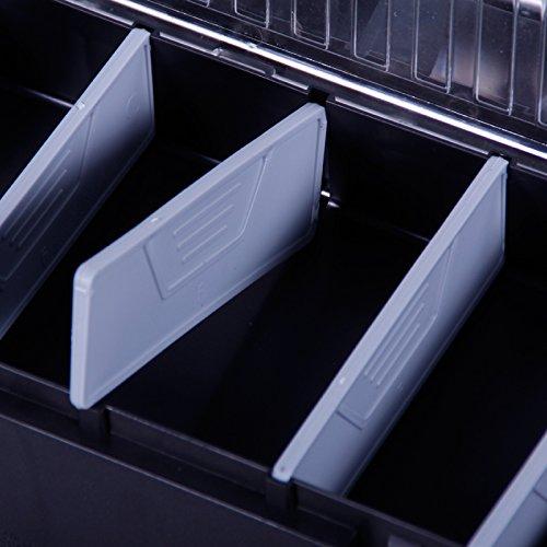 Werkzeugkoffer 60cm Werkzeugkasten Sortimentskasten Werkzeugkiste Angelkoffer Kunststoff Angelkiste Anglerkoffer Sortierkasten Fachkasten - 4