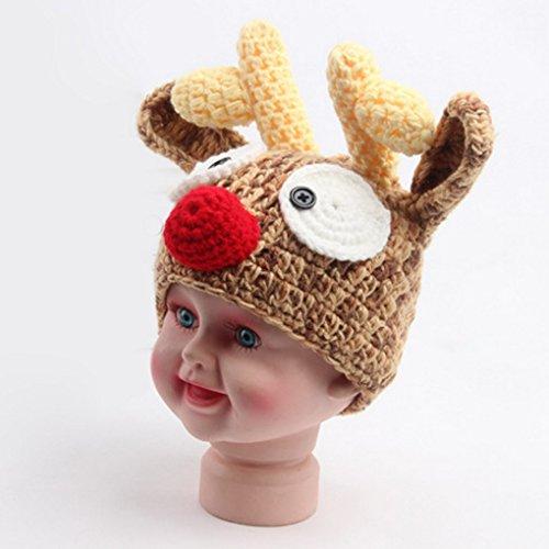 Imagen de aivtalk  disfraz trajes apoyo de fotografía ropa de fotos para bebés niños niñas de punto de ganchillo formado de animales lindo  ciervo alternativa