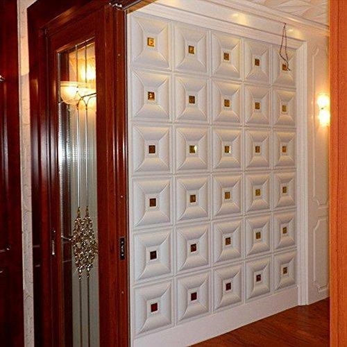 Y-Step Selbstklebende Deckenfliesen abziehen und aufkleben, einfache Montage, strukturierte Paneele 30 cm x 30 cm