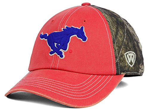 Top of the World South Methodist Mustangs NCAA Dirty Camo Stretch Hat Cap - Top Of The World Stretch-cap