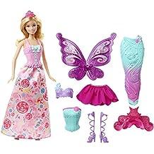 Mattel Barbie DHC39 - Dreamtopia Bonbon Königreich 3-in-1 Fantasie Barbie Puppe