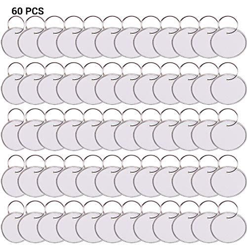 Paquete 60 etiquetas llaves redondas anillo partido