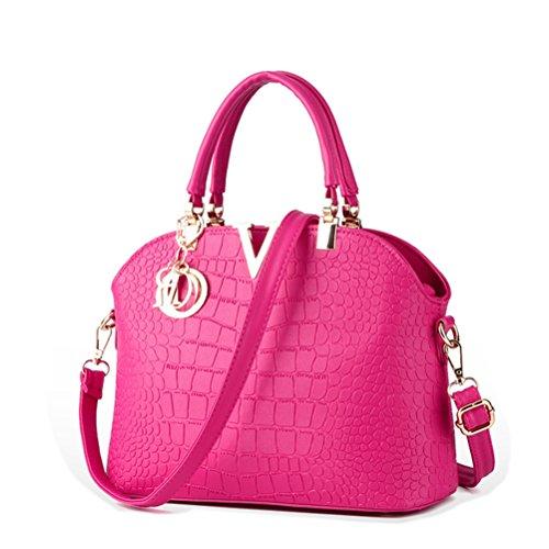 Honeymall Fashion da Donna in Pelle PU Lucchetto a Forma di Borsetta Borsa a Tracolla rosa