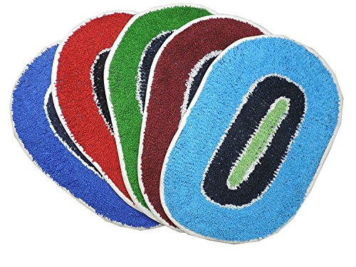 Latesthomestore-Door-Mats-5-Pcs-Multi-Colors-Ultra-Soft-Water-Absorbent-Medium-Size-In-Offer-Price-Size-1218-Inches