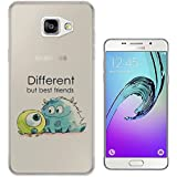 177 - Cool Fun Monsters Different But Best Friends Design Samsung Galaxy A5 -(2016 Modèle) Fashion Trend Protecteur Coque Gel Rubber Silicone protection Case Coque