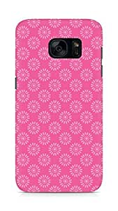 Amez designer printed 3d premium high quality back case cover for Samsung Galaxy S7 (Flower Pattern2)