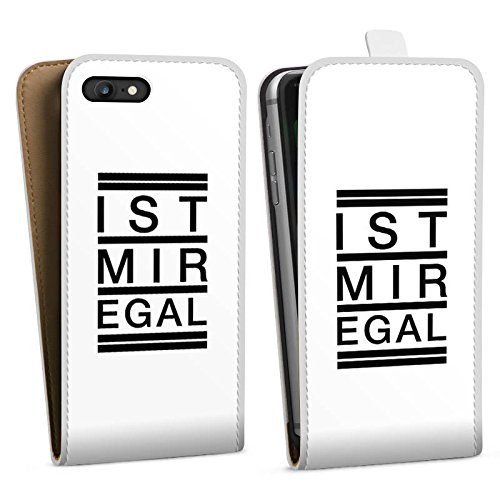 Apple iPhone X Silikon Hülle Case Schutzhülle Egal Trend Statement Downflip Tasche weiß