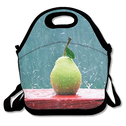 Pears Rain Portable Carry Insulated Lunch Bag - Bento Bag - Large Reusable Lunch Tote Bags For Women, Teens, Girls, Kids, Baby, Adults