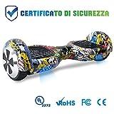 BEBK Hoverboard 6.5' Smart Self Balance Scooter Autobilanciato Skateboard con 2 * 250W Motore, LED, Monopattino Elettrico (Hiphop)