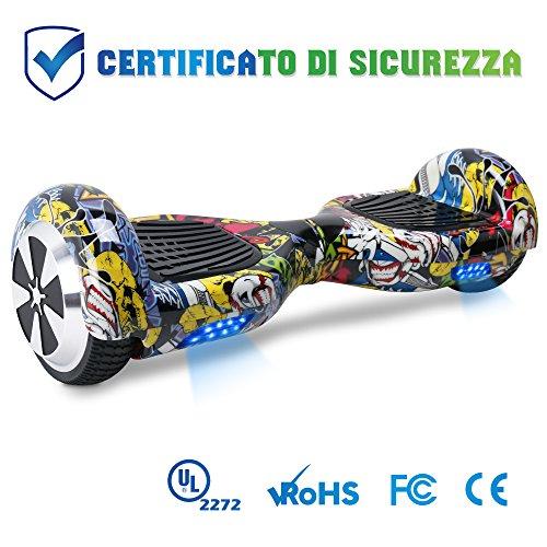"""BEBK Hoverboard in Offerta 6.5"""" Overboard Bambini con Certificazione UL2272 LED,Autobilanciato Skateboard Elettrico, Scooter Elettrico"""