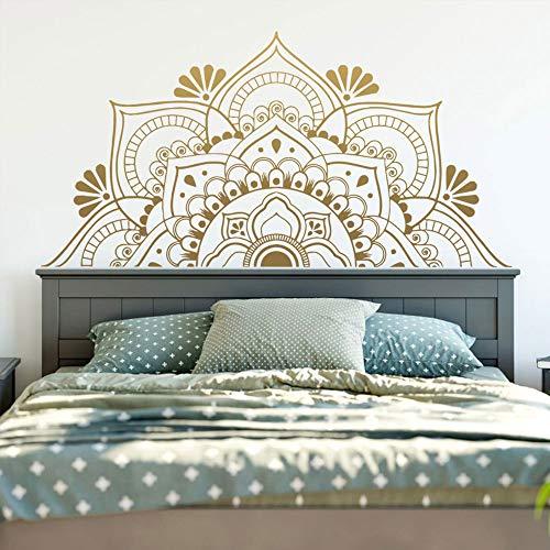 BFMBCH Große mandala wandaufkleber wohnkultur wohnzimmer kinderzimmer yoga vinyl aufkleber schlafzimmer dekor wandaufkleber 28 cm x 56 cm