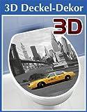 WENKO 3D-WC-Deckelaufkleber New York - ca. 33,5 x 41 cm - WC Deckel Aufkleber - Toilette