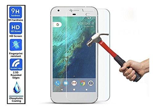 Preisvergleich Produktbild Connect Zone® Google Pixel (5.0 zoll),Google XL (5.5 Zoll) Gehärtetes Glas Anti-Kratzer Ultra Transparent Dauerhaft Schützend Glas-displayschutz Schutzfilm Inklusive Reinigungstuch And Nass Wischen