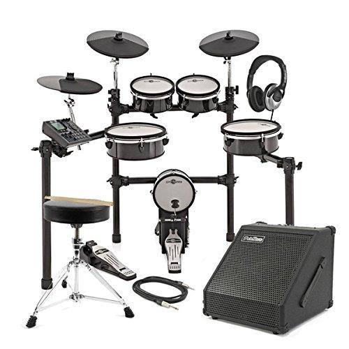 Digital Drums 480X Elektronisches Schlagzeug mit Mesh-Fellen im Paket mit 30-Watt-Verstärker