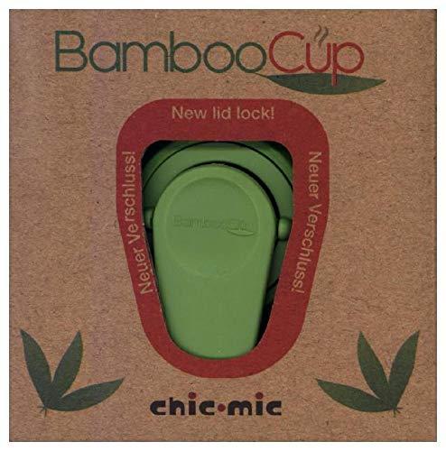 Ersatzdeckel Kaffeebecher BambooCup Bambus Schraubverschluss Deckel (Kaffee Becher) als Ersatz / 9,5 x 9,5 x 2,2 cm (Grün)