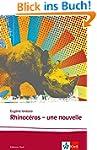 Rhinocéros: Une nouvelle. Französisch...