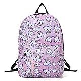 Sac à dos Sports Randonée Voyage, Tezoo Impémeable Super léger 35L Backpack Licorne design pour École Fille Garçon