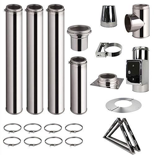 Chimenea de acero inoxidable para montar - chimenea de doble pared de acero inoxidable de alta calidad en todas las longitudes y diámetros.