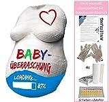 BABY BAUCH Gips Abdruck Set KOMPLETT mit 12 Farben – statt UVP 24,99, zum Angebotspreis! Babybauch Gipsbauch Gipsbinden Gipsabdruck Schwangerschaft Schwangerschaftsbauch Bauchmaske Bauchabdruck