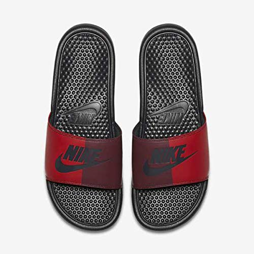 Nike - Benassi - Tongs - Homme - Noir (Anthracite/Anthracite/University Red 008) - 38.5