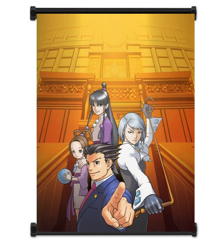 Ace Attorney Phoenix Wright Video Game Fabric Wall Scroll Poster (32' x 42') Inches
