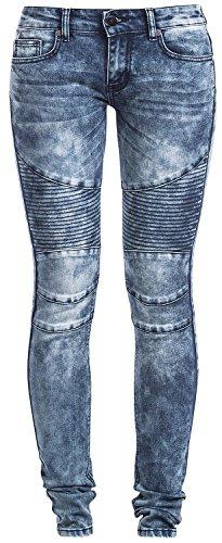 Forplay Biker Pants Jeans donna blu W29L34