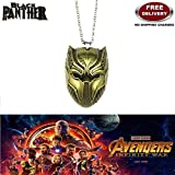 BLACK PANTHER TRENDY GOLD COLOUR IMPORTED METAL PENDANT WITH CHAIN. LADY HAWK DESIGNER SERIES 2018. ❤ ALSO CHECK FOR LATEST ARRIVALS - NOW ON SALE IN AMAZON - RINGS - KEYCHAINS - NECKLACE - BRACELET & T SHIRT - CAPTAIN AMERICA - AVENGERS - MARV