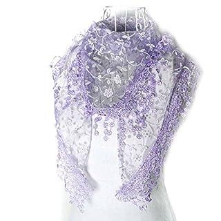 Atdoshop(TM) 1PC New Fashion Lady Women Persian Pattern Design High Quality Cotton Neck Scarf (Purple)
