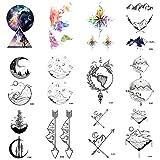 WYUEN 12 Teile/los Berg Temporäre Tattoo Aufkleber für Frauen Männer Gefälschte Tätowierung Körperkunst Erwachsene Wasserdichte Aufkleber 9,8X6 cm W12-08