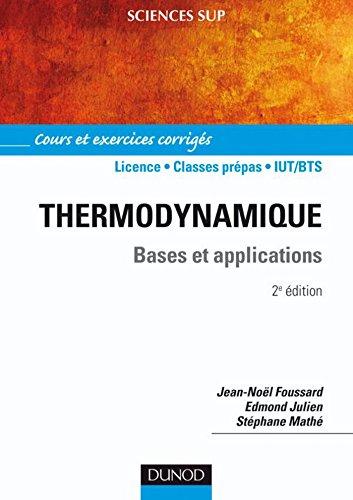 Thermodynamique - 2e d. : Cours et exercices corrigs (Physique)
