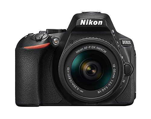 Nikon D5600 + Af P 18 55 Vr Dslr Camera   Black Digital SLR Cameras