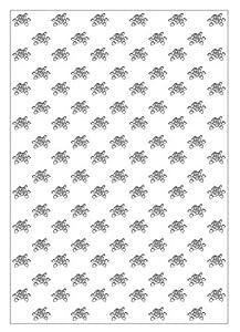 Ursus 60950007 Silhouetten - 10 Hojas de cartulina fotográfica, 300 g/m², Aprox. 23 x 33 cm, para decoración, Paquetes de Regalo y Tarjetas, Color Blanco