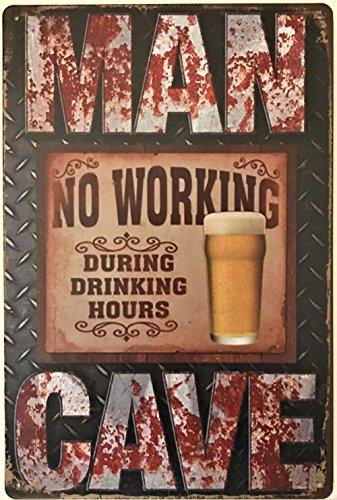 Retro Metall Wandschild Dose Bier Man Cave Arbeiten Cheers Herren Geschenk Plaque Vintage Bar Küche Pub Lounge Life -