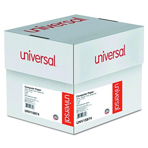 Universal Multicolor Papier, 4tlg kohlenstofffreien, 6,8kg, 9–1/5,1x 27,9cm, perforiert, 900Blatt (15874)