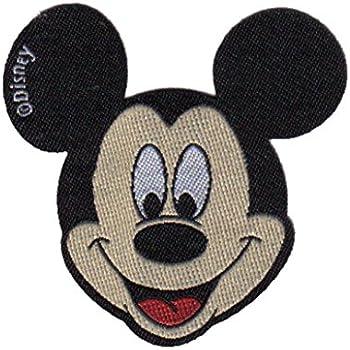Mickey Mouse 90 Jahre Disney Aufnäher // Bügelbild 6,0x8,0cm rot