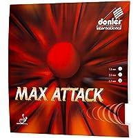 Donier Goma de Ping Pong | MAX Attack | Goma de Tenis de Mesa Fabricada en Europa para Palas y Maderas de Tenis de Mesa | Rendimiento de Competición | Personaliza tu Pala Raqueta (Rojo, 2,2 mm)