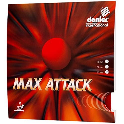 Donier Tischtennis Belag MAX Attack | Ping Pong Beläge für Tischtennis Schläger und - Hölzer | Hergestellt in der EU | Wettkampf Performance | Individualisiere Deinen Tischtennisschläger (Rot)